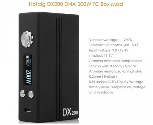 DX200 DNA 200W by Hotcig Evolv DNA 200 CHIP