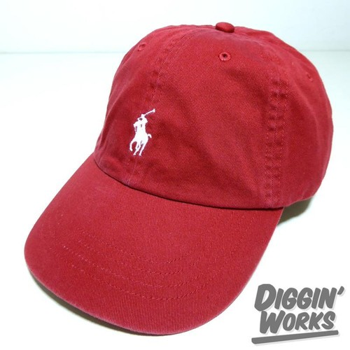 Polo Ralph Lauren Classic Chino Cap Burgundy/White