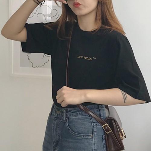 【トップス】韓国系ゆったり合わせやすいヒップホップ学園風半袖Tシャツ