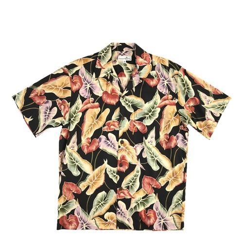 Pineapple juice  オープンアロハシャツ /   アンスリウム Black