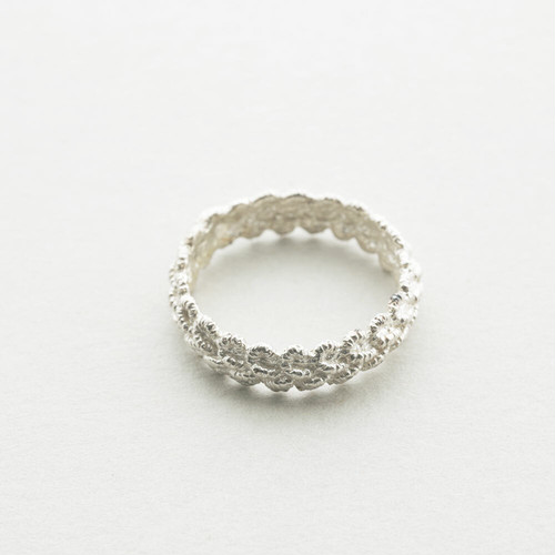 lace ring (silver)