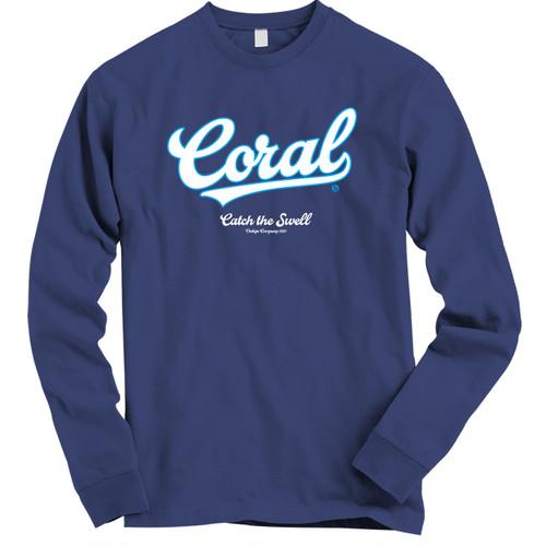 CORAL ロングTシャツ2018:ネイビー
