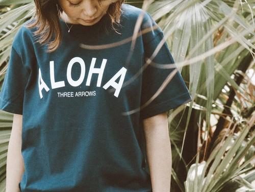 【5/22 21:00販売開始】ALOHA Tシャツ(navy)