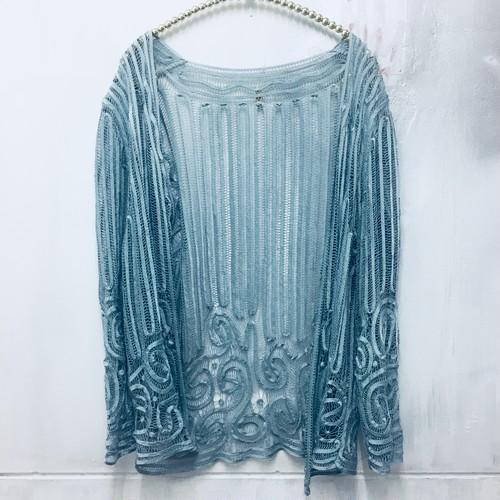 silk lace cardigan