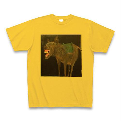 笑うロバ Tシャツ ゴールドイエロー