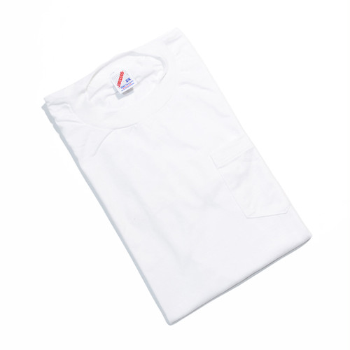 Deadstock★ 90's JERZEES ビッグサイズ ポケTEE(WHITE)XXL