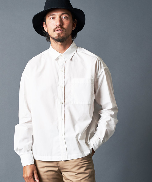 COTTON TYPEWRITER SQUARE SHIRTS