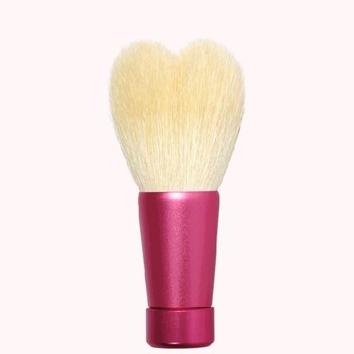 ハート型洗顔ブラシ 中 ホワイト/ピンク軸