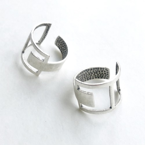 Raw brass Rings -  Squares リング  RG-021/SV