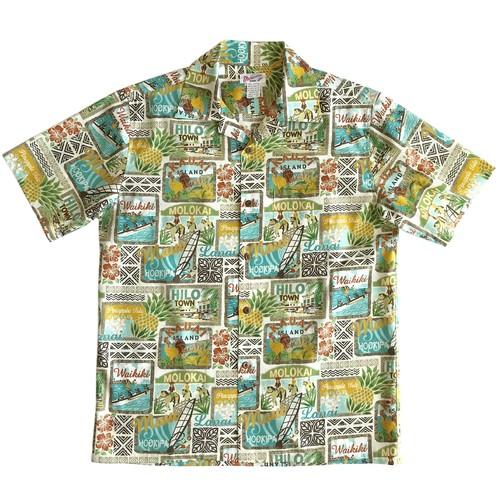 Mountain Men's オープンアロハシャツ / Hawaii Islands