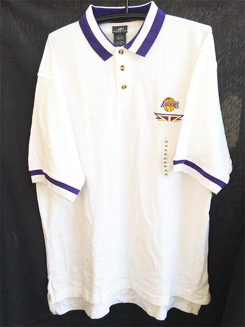 NBA XXL 2XL ロサンゼルス レイカース LAKERS ポロシャツ ホワイト 白 1116