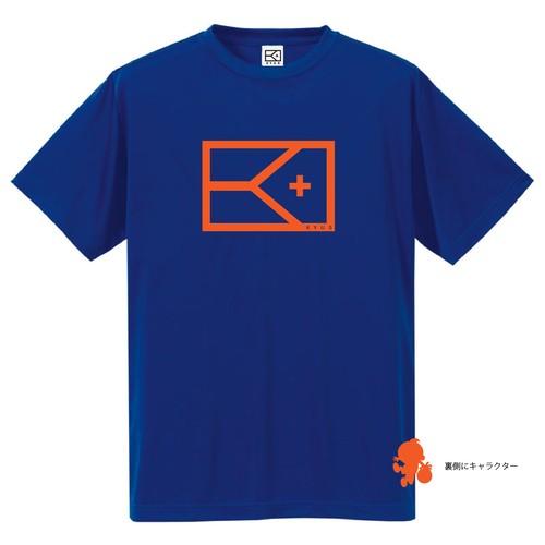 BIGフラッグ×キャラクターTシャツ(ブルー×オレンジ)