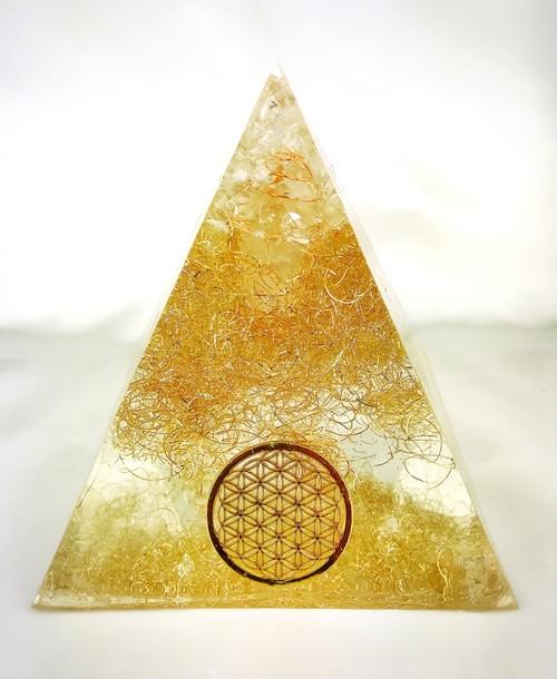 2/27新着★空間を強力浄化★特大オルゴナイトピラミッド~フラワーオブライフ~②