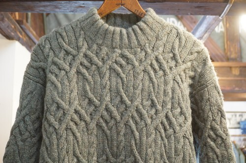 early 90's J.CREW sage-green fishermans Sweater
