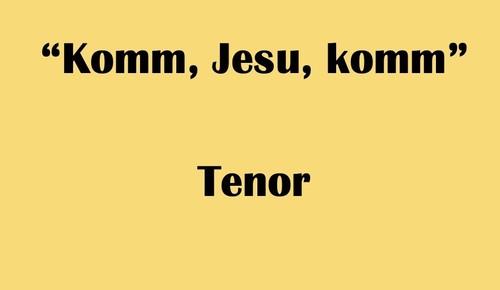 """テノール用 """"Komm, Jesu, komm"""" BWV 229 Karaoke for Tenor"""