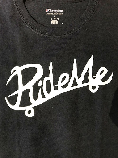 【RideMe | ライドミー】 Symbol Logo Champion TEE / 6.0oz NAVY
