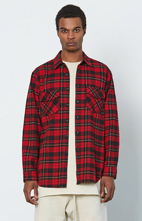 FOG - Fear Of God 2016AW Plaid Long Sleeve Button Up Shirt