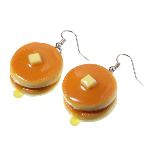 [0240]食品サンプル屋さんのピアス(ホットケーキ)