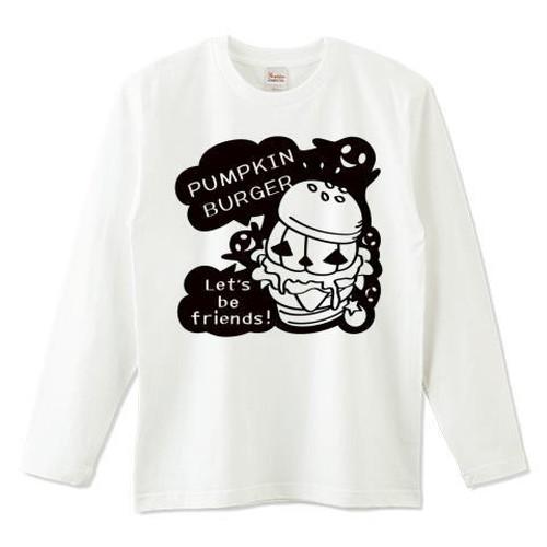 キャラT15 Gz かぼちゃバーガーB *5.6オンスロングTシャツ (Printstar)