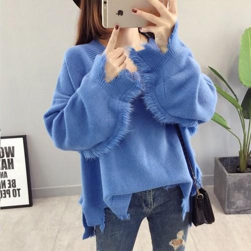 【トップス】上質感ファッション無地カットソー/セーター17159791