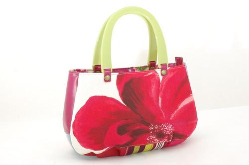 赤いお花のふんわりBag S