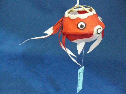 金魚ちょうちん 目がうごくタイプ 吸盤付