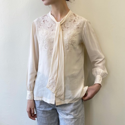 embroidery silk blouse