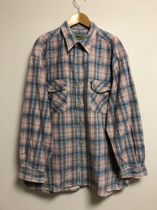 late90's UNIQLO print flannel shirt