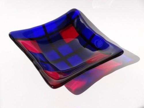 ガラスプレート(TARTAN PINK)