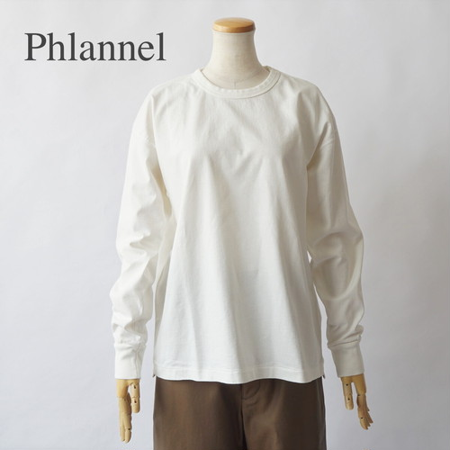 PHLANNEL SOL/フランネル・Cotton Open-end Yarn Long T-shirt
