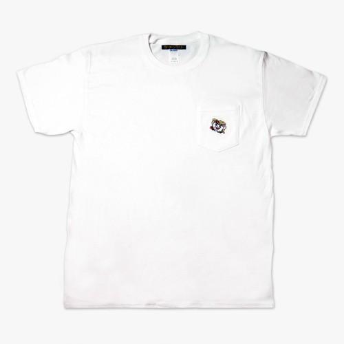 ⑨ラーメンくん刺繍ポケット白Tシャツ