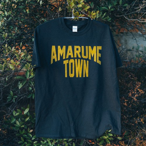 復刻 AMARUME TOWN Tee BLACK×GOLDEN YELLOW