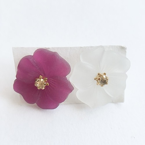 Frosted Floral pierce[p-425]