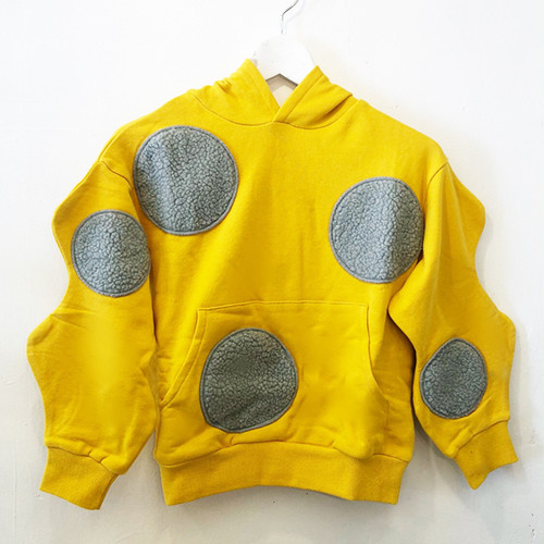 UNEVEN BOA DOTS FOODED SWEATSHIRT / LL