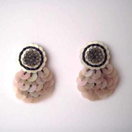 1509-02 ピンクのお花ピアスorイヤリング
