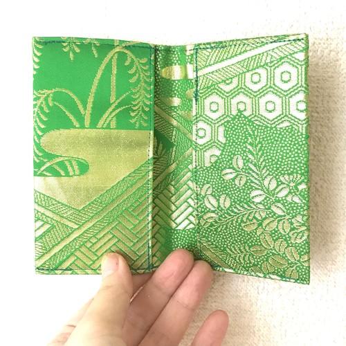 【24金箔・光の菊】西陣帯カードケース