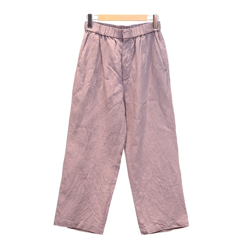 TOUJOURSトゥジュー/STONE WASHED BELGIAN LINEN CLOTH EASY TROUSERSパンツ【KM32MP02】