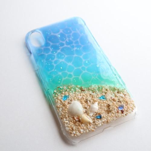 グラデーションの海 iPhoneXRケース