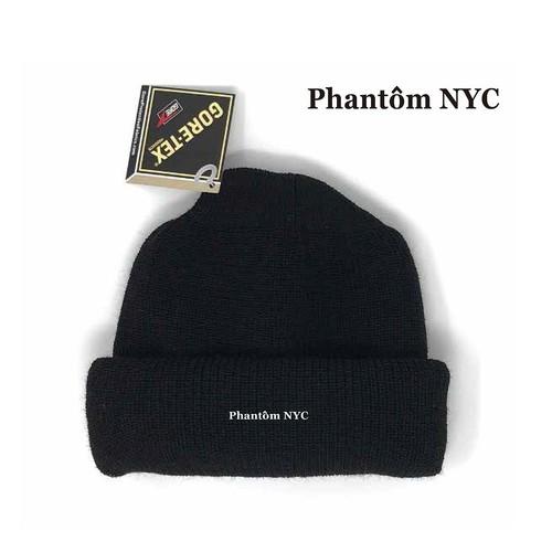PHANTOM NYC / Gore-Tex Basic logo EMB Beanie: Made in USA ファントム ニューヨーク ゴアテックス ベーシックロゴ刺繍 ニットキャップ ビーニー