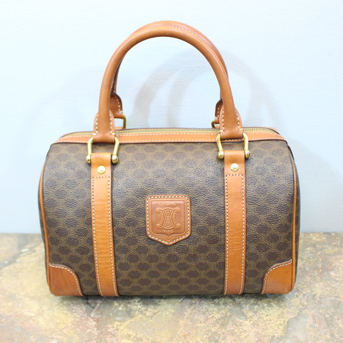 .OLD CELINE MACADAM PATTERNED BOSTON BAG MADE IN ITALY/オールドセリーヌマカダム柄ボストンバッグ 2000000033044