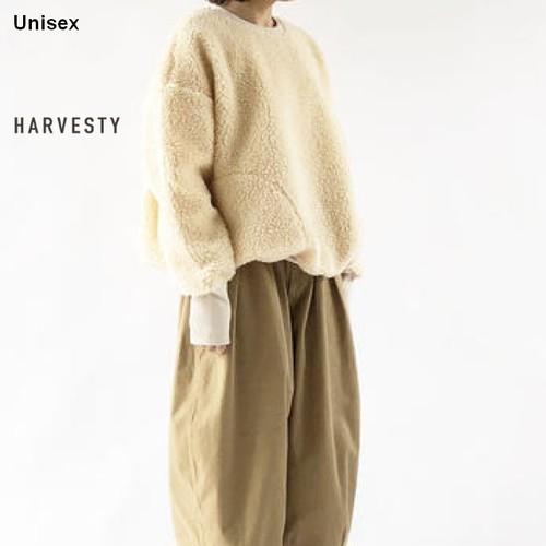 【再入荷】HARVESTY ボアフリースプルオーバー A51705 (IVORY)