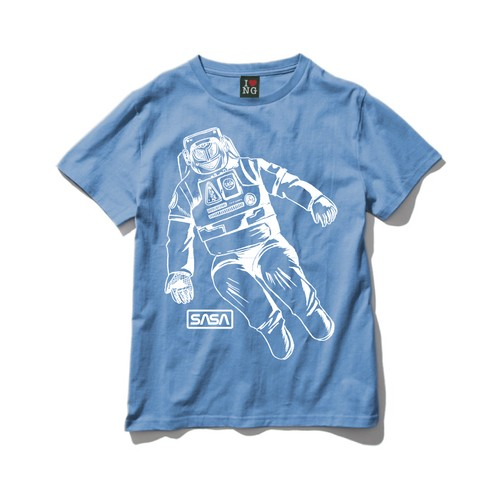 Tee-宇宙遊泳(ブルー)