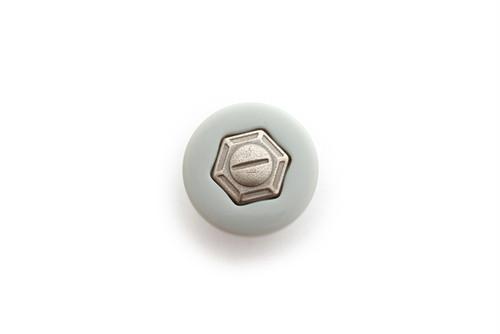 ヴィンテージ・グレーメタルシャンクボタン