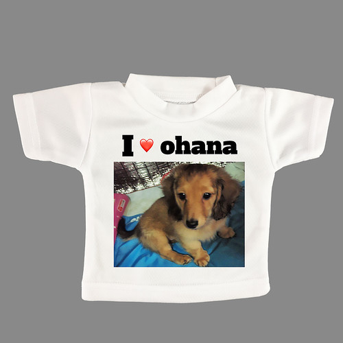 写真やメッセージから作る ミニTシャツ