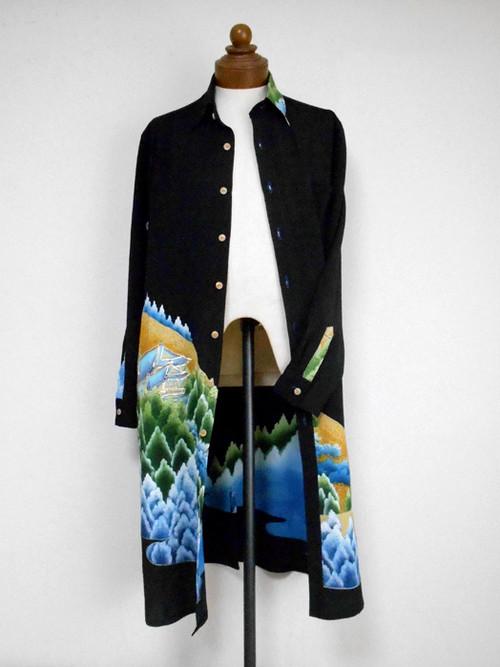 着物ロングシャツ Kimono Long Shirt MS-127/L