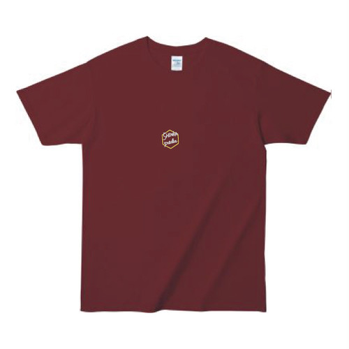 SHINKA T-shirt [Burgundy × Gray]