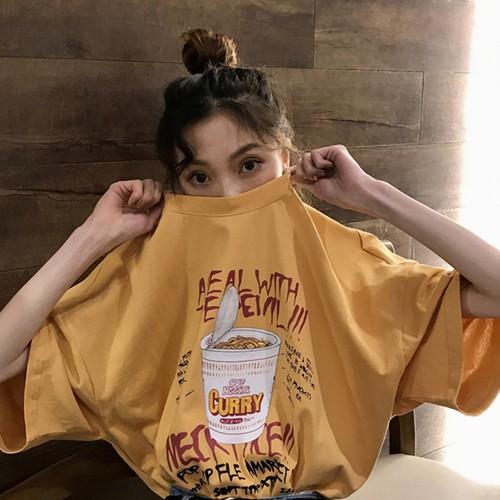 【トップス】スウィート春夏アルファベットプリント韓国風カジュアル半袖Tシャツ