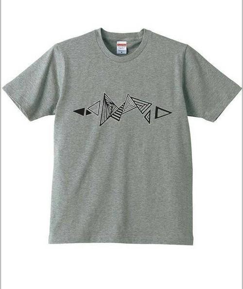胎動×大佐 T-shirt  (平成28年熊本地震チャリティー)  MIXGRAY