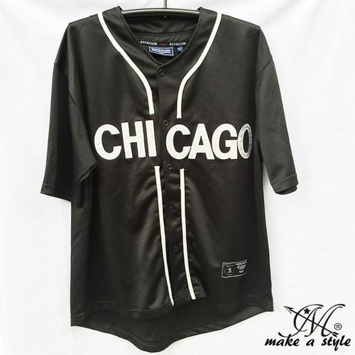 MLBシカゴ ホワイトソックス BBシャツ ベースボールシャツ B系 ストリート系 ヒップホップ ギャング マフィア スケーター パンク ロック sk8 バイカー 西海岸 46
