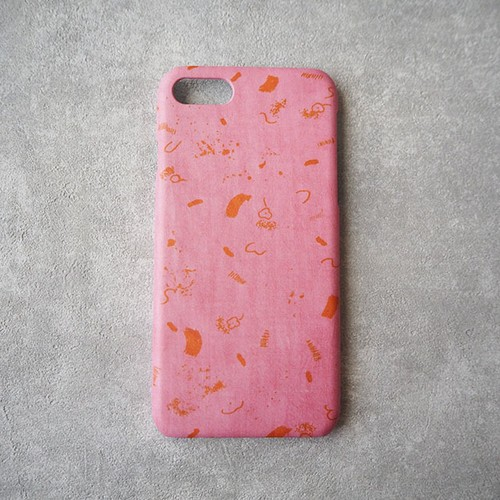 iPhone Plusケース <concrete doodle> ピンク